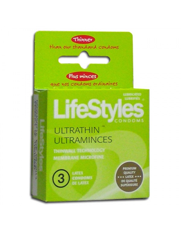 LifeStyles® Ultrathin Condoms (3-Pack)
