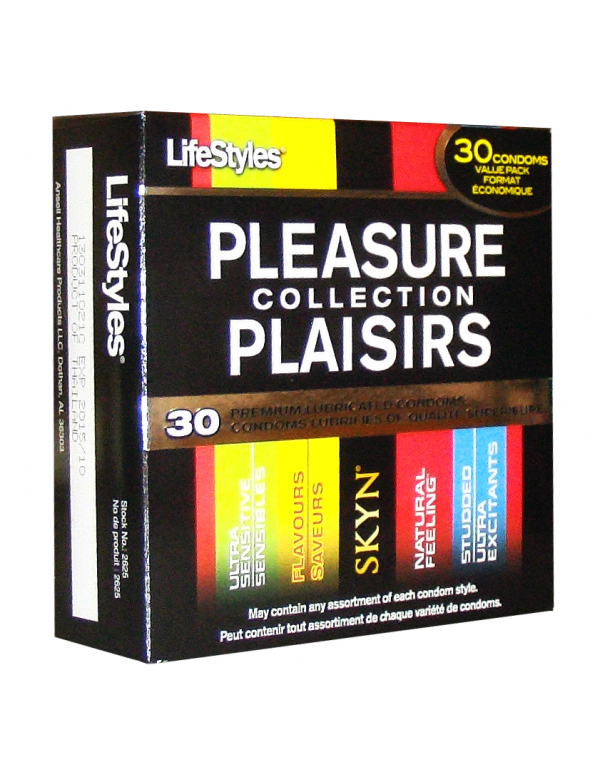 LifeStyles® Pleasure Collection Condoms (30-Pack)
