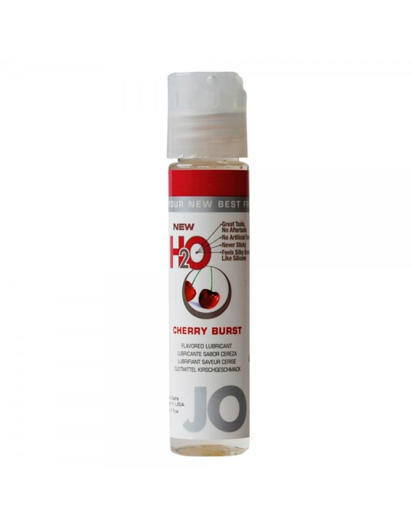 System Jo H2O Cherry Burst Flavored Lubricant 1oz/30ml