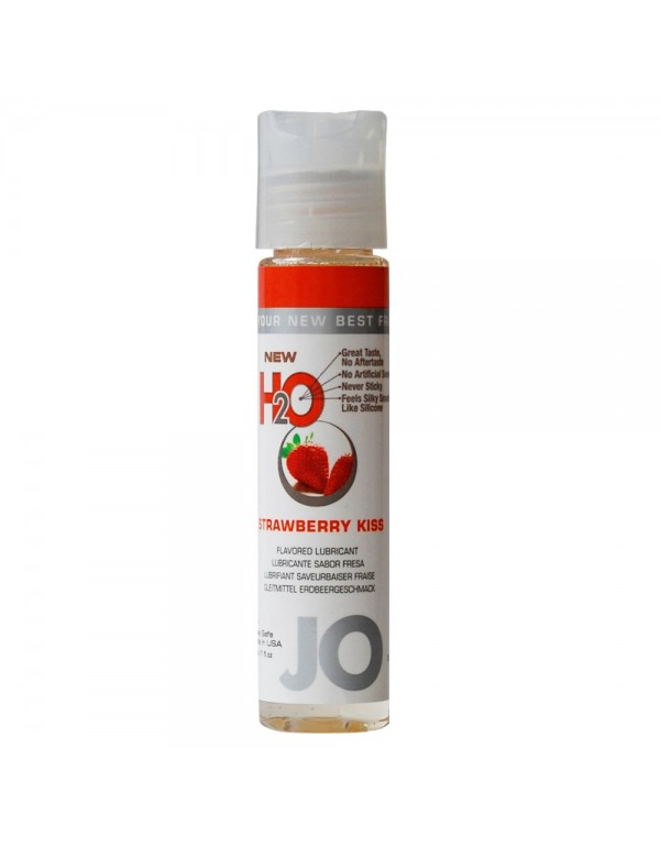 System Jo H2O Strawberry Kiss Flavored Lubricant 1oz/30ml