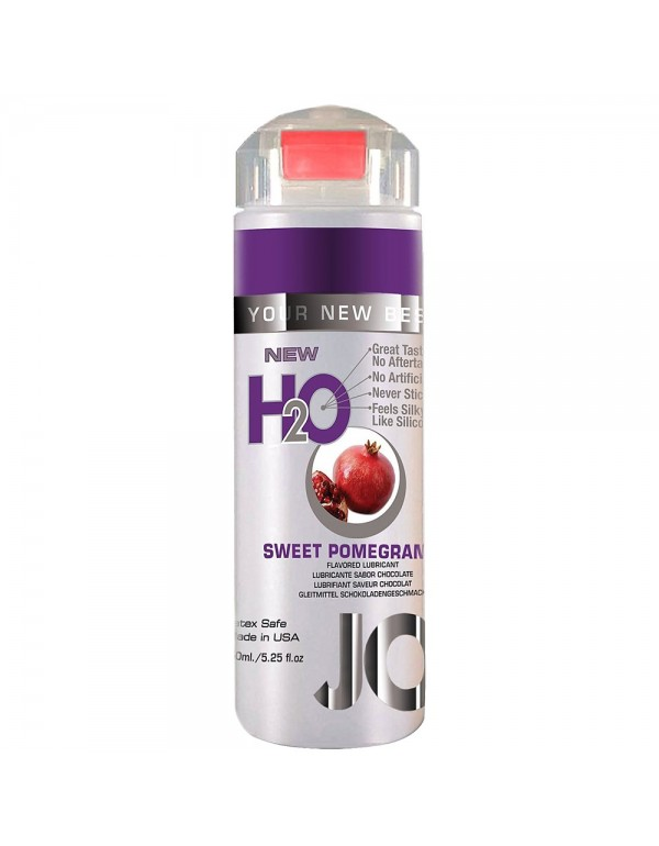 System Jo H2O Sweet Pomegranate Flavored Lubricant in 5.25oz/150ml