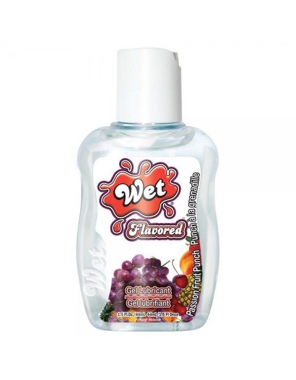Wet Flavored Body Glide Personal Lubricant 1.5oz/44ml in Passion Fruit Punch