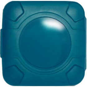 Condom Compact in Blue