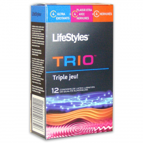 LifeStyles® Trio Condoms (12-Pack)