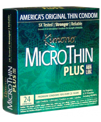 Kimono® MicroThin® Condoms - Ultra Lubricated with AquaLube® (24-Pack)