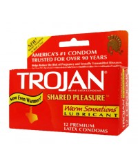 Trojan Shared Pleasure Warm Sensations Condoms